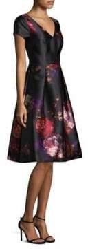David Meister Floral Cocktail Dress