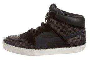 Louis Vuitton Basketweave Leather Sneakers