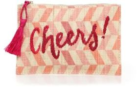 KAYU Cheers Herringbone Straw Clutch