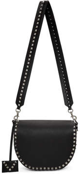 Valentino Black Garavani Rockstud Saddle Bag