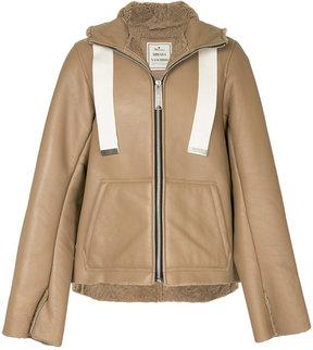 Miharayasuhiro hooded shearling jacket