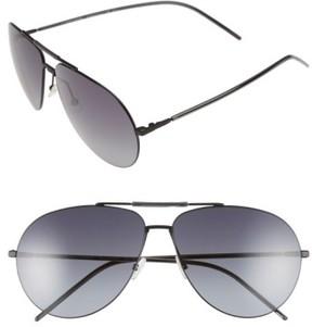 Christian Dior Men's 62Mm Aviator Sunglasses - Black Grey/ Grey