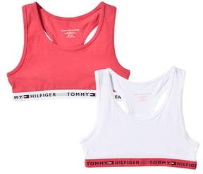 Tommy Hilfiger Pack of 2 Pink and White Branded Bralets