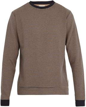 Oliver Spencer Robin striped cotton-blend jersey sweatshirt