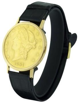 Audemars Piguet Hidden $20 Coin 18K Yellow Gold & Leather 35mm Men
