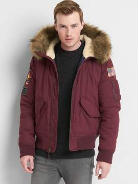 Gap Limited Edition faux-fur hooded bomber