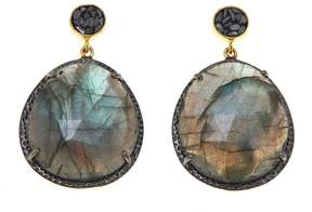 Black Diamond Collections by Joya Labradorite Earrings with Shards