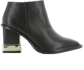 Kat Maconie Black Leather Heeled Ankle Boots