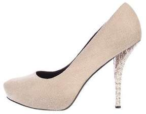 Elizabeth and James Woven Platform Pumps