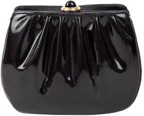 Judith Leiber Black Patent leather Clutch Bag
