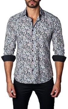Jared Lang Men's Trim Fit Tie Dye Sport Shirt