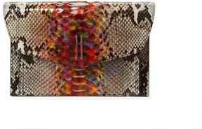 Hayward Bobby Rainbow Python Clutch Bag, Multi