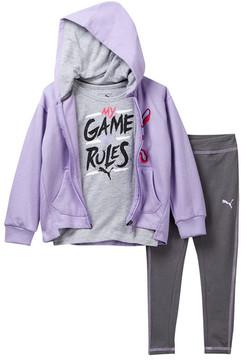 Puma My Game My Rules Leggings, Tee, & Hoodie Set (Little Girls)
