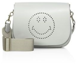 Anya Hindmarch Smiley Ebury Leather Satchel