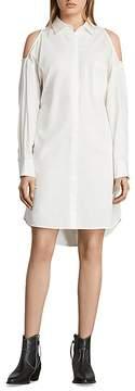 AllSaints Joelle Cold-Shoulder Shirt Dress