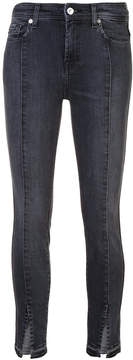 7 For All Mankind skinny jeans with ankle slit