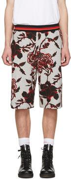 McQ Grey Floral Clean Shorts