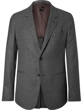 Caruso Grey Butterfly Slim-Fit Unstructured Wool-Hopsack Blazer