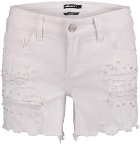 Dollhouse White Embellished Denim Shorts - Juniors & Plus