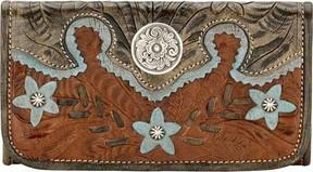 American West Desert Wildflower Tri Fold Wallet (Women's)