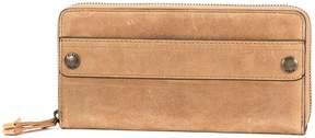 Frye Melissa 2 Zip Smooth Leather Wallet