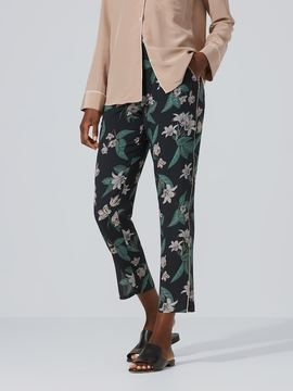 Frank and Oak Silk Floral Pant in Black