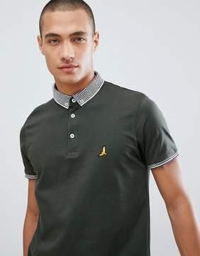 Brave Soul Striped Collar Polo Shirt