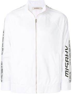 Misbhv logo zipped sweatshirt
