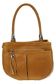 B. Makowsky As Is Vintage Leather Multi Pocket Shopper