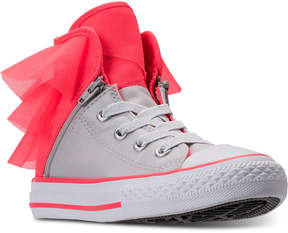 Converse Little Girls' All Star Block Party High Top Casual Sneakers from Finish Line