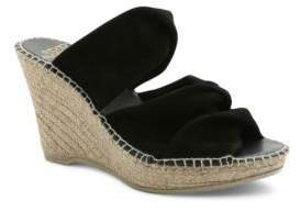 Andre Assous Sun Suede Platform Wedge Espadrille Sandals