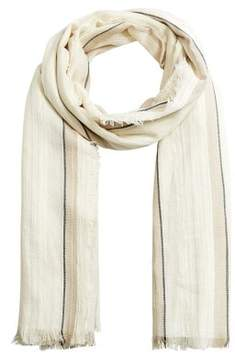MANGO Striped lightweight scarf