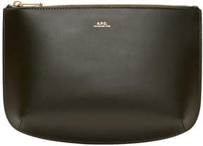 A.P.C. Green Leather Sarah Pouch