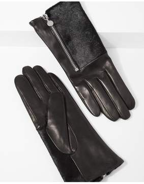 7 For All Mankind | Amato Half Calf Hair Glove With Side Zipper In Black | S