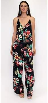 Ark & Co Tantalizing Tropics Black Floral Jumpsuit