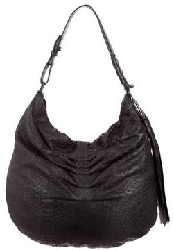 Halston Gathered Shoulder Bag