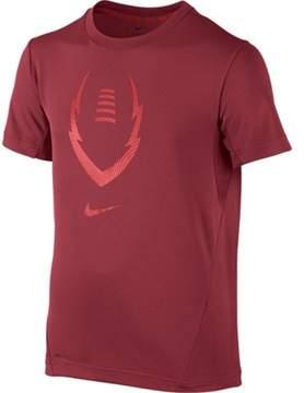 Nike Big Boys' (8-20) Football Training Shirt-Red-Small