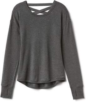 Athleta Criss Cross Back Sweatshirt