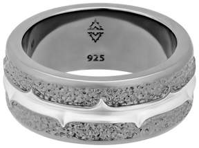 Stephen Webster 925 Sterling Silver Highwayman Tarmac Texture Ring Size 10