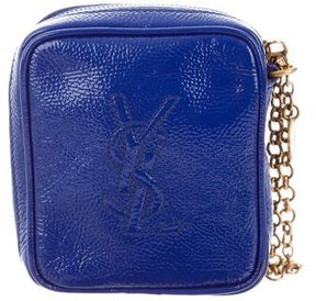 Saint Laurent Monogram Zip Pouch - BLUE - STYLE