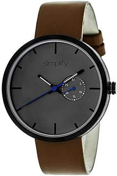 Simplify The 3900 Collection SIM3904 Unisex Watch with Leather Strap