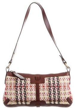 Burberry Leather-Trimmed Knit Bag - BROWN - STYLE