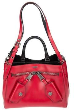 Moschino Women's Red Leather Shoulder Bag.
