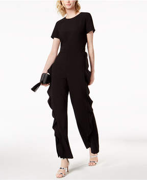Bar III Ruffled Jumpsuit, Created for Macy's
