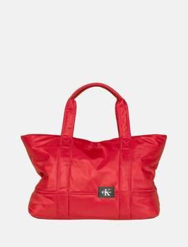Calvin Klein monogram logo twill tote bag