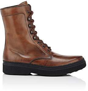 Tod's Men's Burnished Leather Lace-Up Boots