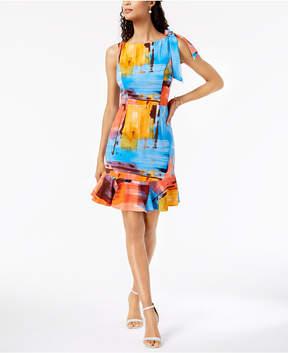 Donna Ricco Watercolor Flounce Dress