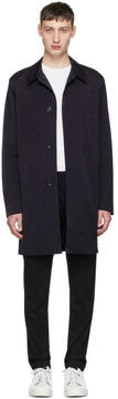 Paul Smith Navy Unlined Mac Coat