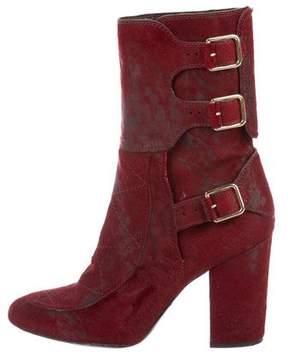 Laurence Dacade Ponyhair Mid-Calf Boots