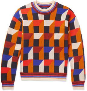 Joseph Intarsia Wool And Cashmere-Blend Sweater